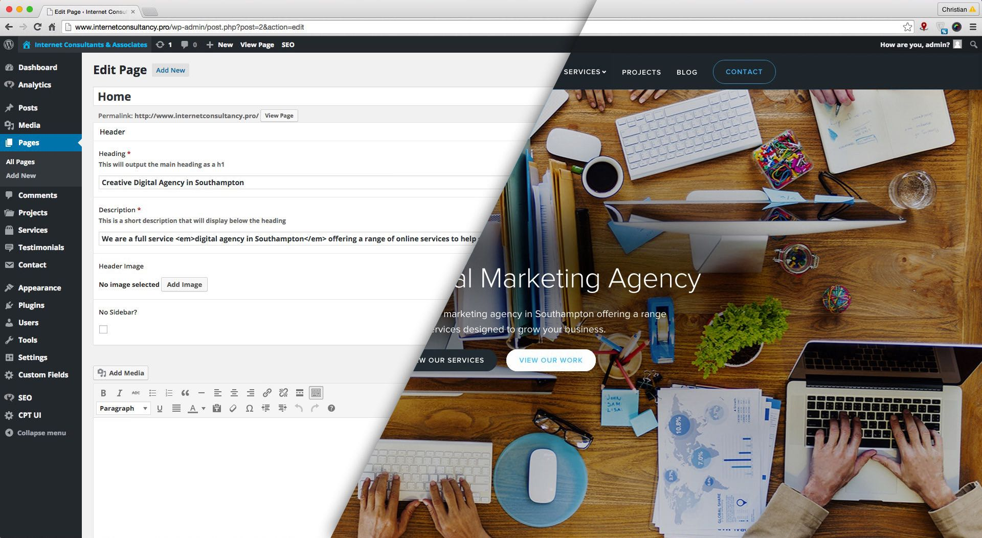 WordPress Website Southampton