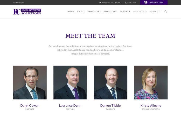 Employment Law Website Design