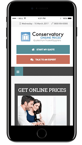 conservatory online prices screen