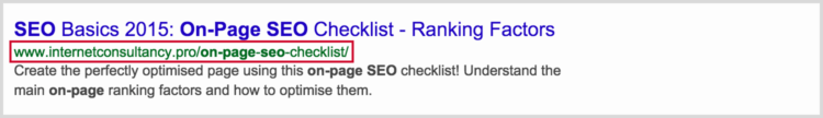 SEO Friendly URL