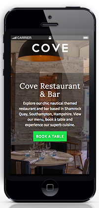 visit cove restaurant screen phone