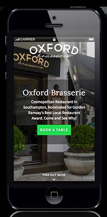 oxford brasserie restaurant website phone