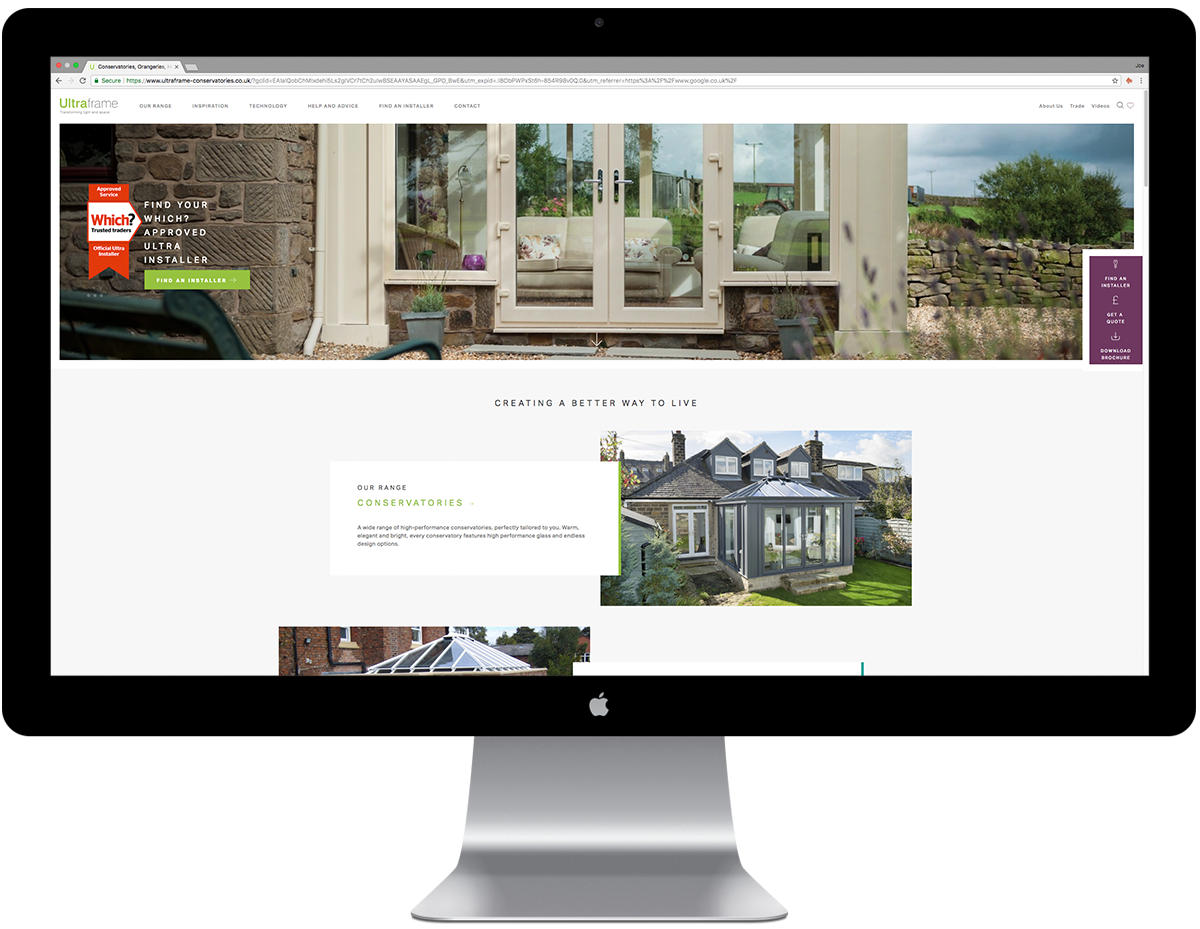 Ultraframe New website