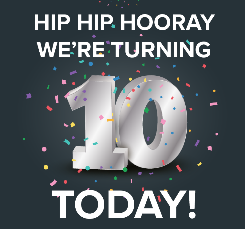 Cheers To 10 Years!